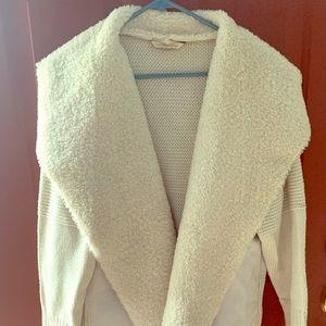 Soft Surroundings Faux fur cardigan
